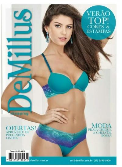 303671721 Capa do catálogo da DeMillus com a nossa renda Sabrina 82